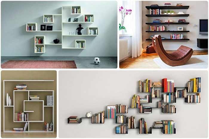 دیوار و کتابخانه دکوراتیو