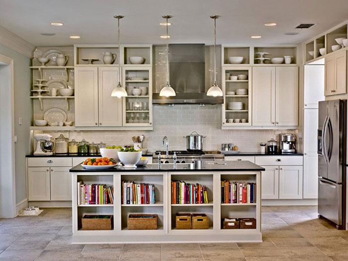 طراحی قفسه کتاب در کمد لباس، آشپزخانه، زیرپله، پشت مبل