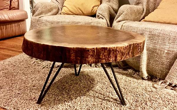 میز عسلی زیبا از چوب گردو